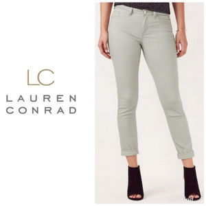 LC Lauren Conrad Cuffed Ankle Skinny Jeans 10 NWT